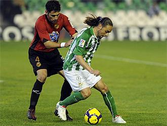 Sergio Garc�a, en un partido con el Betis