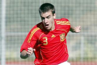 Aurtenetxe en un partido de la selección española sub'17.