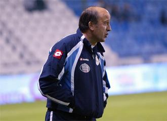 Miguel �ngel Lotina, durante un encuentro del Deportivo