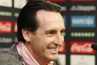 Emery en rueda de prensa.