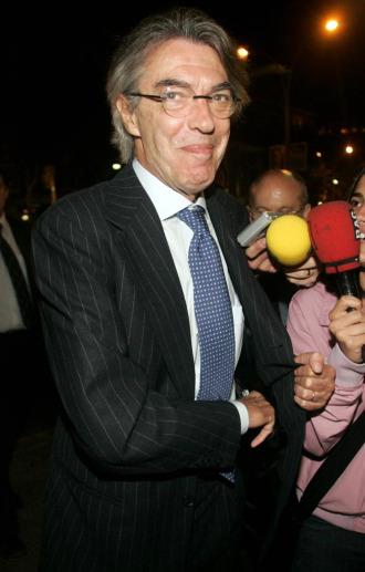 El presidente de Inter de Milán, Massimo Moratti