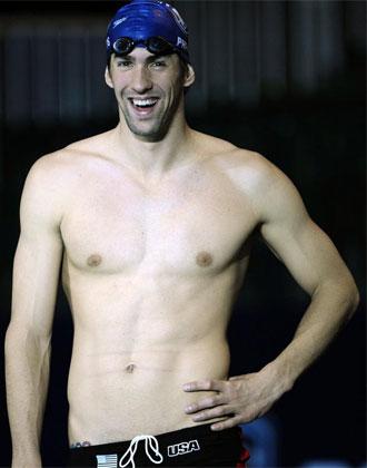 Phelps en el Centro Acu�tico de Manchester.