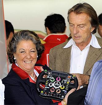 Barberá con Luca di Montezemolo, presidente de Ferrari y de la FOTA