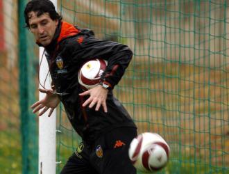 Emery, en un entrenamiento