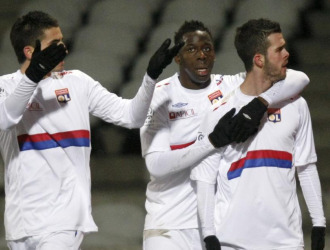 El Lyon celebra un gol