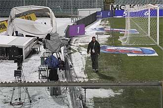 Así lucía este sábado el estadio de la Fiorentina.