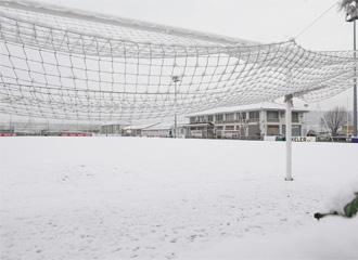 Imagen de los campos de Tajonar nevados