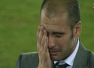 Guardiola llora tras el encuentro