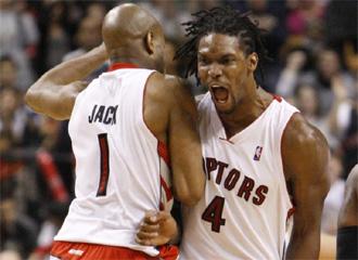 Partido de los Raptors ante los Hornets.