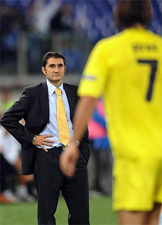 El t�cnico del Villarreal, Ernesto Valverde.