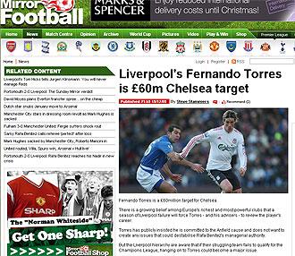 Información de Torres en el Daily Mirror