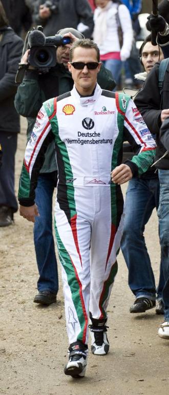 Schumacher, en una competici�n de karts en Colonia.