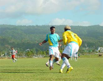 Partido de la selección de Tuvalu.