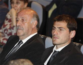 Del Bosque y Casillas, juntos en un acto de la RFEF.