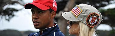 Tiger Woods junto a Elin Nordegren