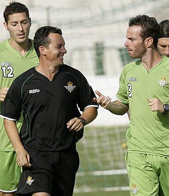 Paulino Granero junto a Fernando Vega en un entrenamiento