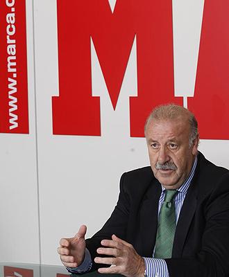 Del Bosque, en un momento de la entrevista en la redacci�n de MARCA.