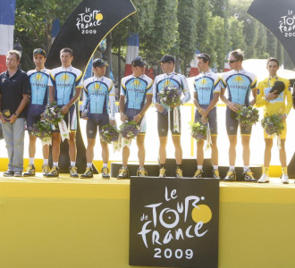 El equipo Astana en el pasado Tour de Francia.