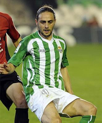 Sergio Garc�a, en un partido con el Betis.