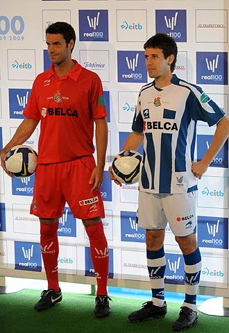 Xabi Alonso y Aranburu presentaron las camisetas del Centenario de la Real Sociedad el pasado 21 de abril y el �xito est� siendo incuestionable
