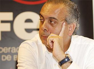 José Luis Sáez, en una rueda de prensa