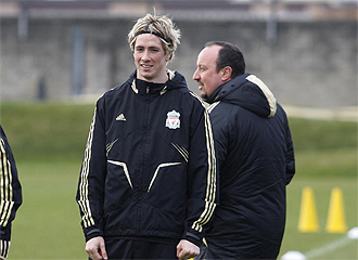 Torres, en un entrenamiento