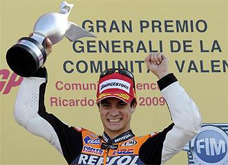 Pedrosa celebra una victoria