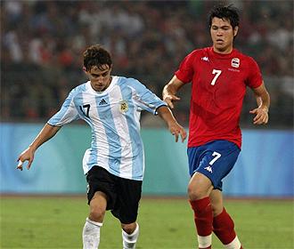 Diego Buonanotte, en un partido con la selecci�n argentina en los pasados Juegos Ol�mpicos.