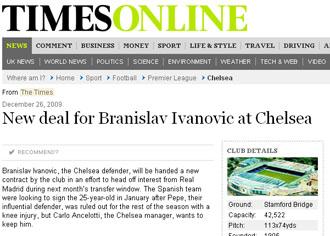 The Times refleja la supuesta oferta del Chelsea.