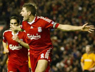 Gerrard celebra el primero