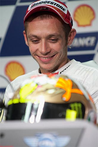 El campe�n italiano Valentino Rossi.