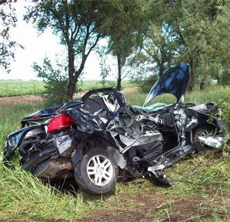 As� termin� el coche de Buonanotte tras el accidente