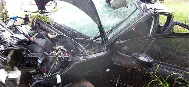 As� qued� el coche de Diego Buonanotte tras el accidente