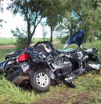 As� acab� el coche de Buonanotte despu�s del accidente