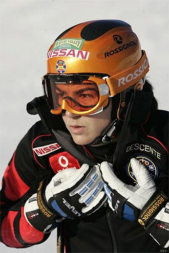 La esquiadora espa�ola Mar�a Jos� Rienda