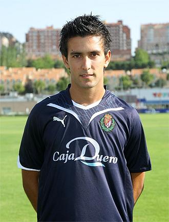 El delantero del Valladolid Alberto Bueno