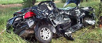 Así acabó el coche de Buonanotte después del accidente