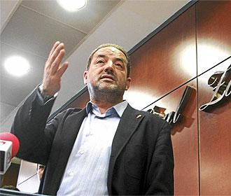 Agapito Iglesias, en rueda de prensa.