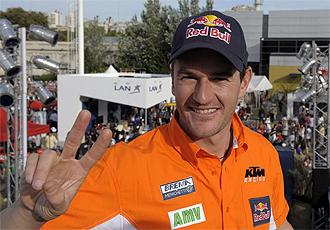 El piloto espa�ol Marc Coma, en Buenos Aires.