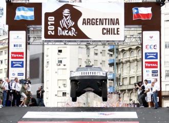 Momento de la presentaci�n del Dakar 2010.