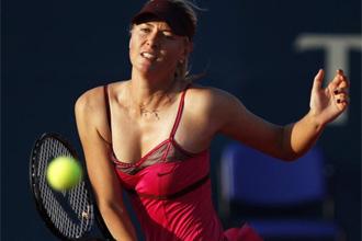 Sharapova, durante el partido ante Venus.