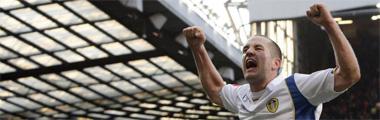 Michael Doyle celebra la victoria del Leeds