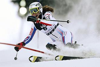 Sandrine Aubert, durante la prueba