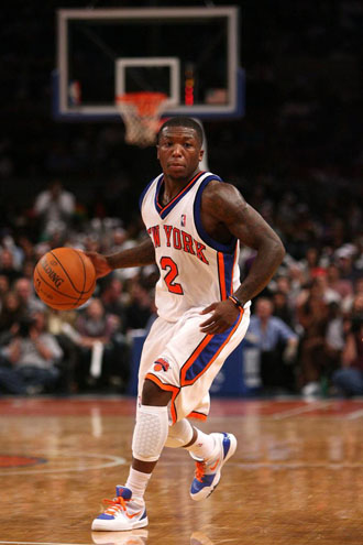 Nate Robinson, en un choque de los Knicks.