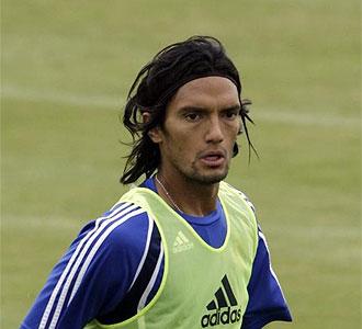 Abel Aguilar durante un entrenamiento.
