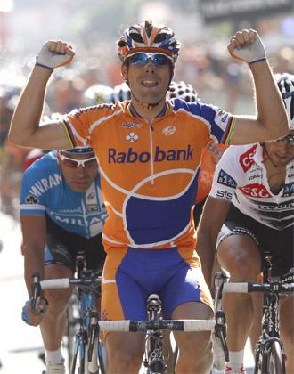 �scar Freire durante una etapa de la Vuelta a Espa�a.