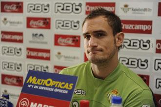 Carlos Garc�a, en rueda de prensa.