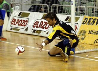 Sergio Alonso, durante un encuentro de Liga con ElPozo Murcia