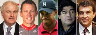 Calder�n, Armstrong, Woods, Maradona y Pepe