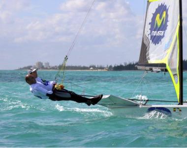 Iker Mart�nez y Xabi Fern�ndez, en el Mundial 49r que se celebra en Bahamas.